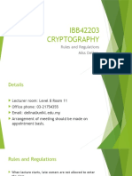 Rules and Regulations - IBB42203