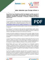 Opotunidades laborales en la UE