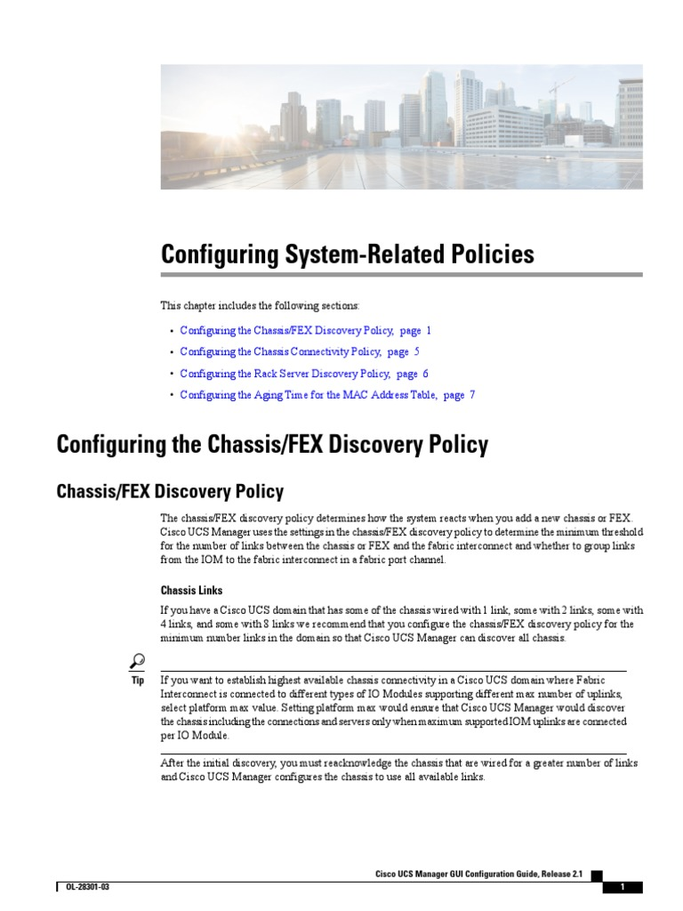 UCS Fex Discovery Policy   Computer Architecture   Computing