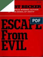 Escape From Evil - Ernest Becker.pdf