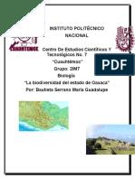 Biodiversidad Del Estado de Oaxaca
