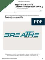 Artigo sobre EPI´s - Proteção Respiratória