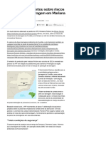 Laudo de 2013 Alertou Sobre Riscos de Ruptura de Barragem Em Mariana (MG) - Notícias - Cotidiano