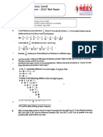 Primary - Year 2015 Final Test Paper