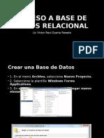 Acceso a Base de Datos Relacional