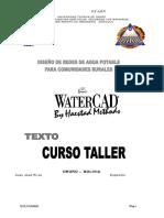 Curso Taller Water Cad f.c.a.p.V