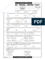Model Grand Test Math