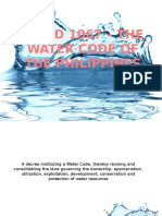 Pd 1067 – the Water Code of the Philippines