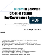 Ageing Policies in Selected Cities of Poland