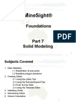 MineSight Part7 Solid Modelling