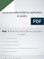 03 Sistemas Informáticos Aplicados Al Audio