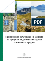 Guide book for public involvement in the process of decision making about the environment