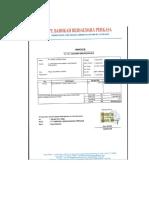 Invoice Minyak