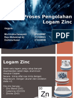 Proses Pengolahan logam Zinc