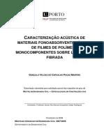 Caracterização Acústica de Materiais Fonoabsorventes À Base de Filmes de Polímero ...