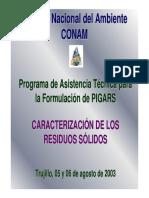 Caracterización de Los r.s. Pigars - Conam