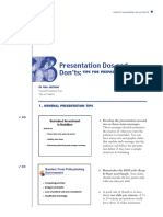 Presentation Dos and Don'ts TIPS FOR PREPARING GREAT SLIDES