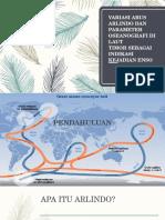 Variasi Arus Arlindo Dan Parameter Oseanografi Di Laut