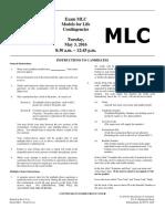 MLC exam asd