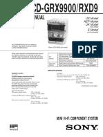 Sony Hcd Grx9900