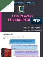 Plazos de Prescripcion