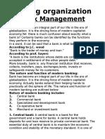 Bank Management