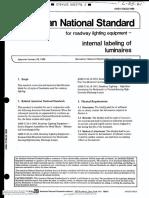 ANSI American National Standard for Roadway Lighting Equipment Internal Labeling of Luminaires