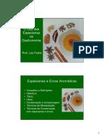 PDF Aula 6-Temperos, Condimentos, Especiarias, Ervas Aromáticas