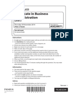 Business Administration (New 2012) L2 Past Paper Series 4 2014
