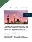 In the Praise of Noble Prophet Mohammed