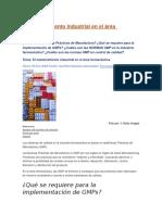 El Mantenimiento Industrial en El Área Farmacéutica