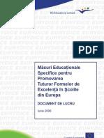 Eurydice Excelenta in Scolile din Europa