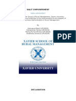 Sada Assignment-dalit Empowerment
