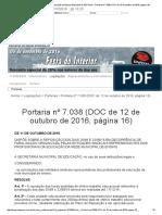Sindicato Dos Profissionais Em Educação No Ensino Municipal de São Paulo - Portaria Nº 7