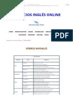 MODAL VERBS - Ejercicios Inglés Online