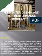 Fermentor Design and Bioreactor