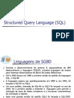 BD I Linguagem de Manipulação de Dados