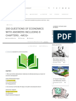 200 Questions of Economics With Answers Including 8 Chapters..