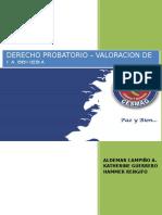 Valoración de la Prueba - Derecho Probatorio