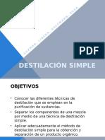 Destilación Simple (Final)