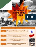 El Mundo Entre 1920 y 1960