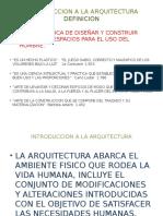 Introduccion a La Arquitectura Unidad 1
