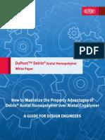 DuPont Delrin(R) vs Acetal Copolymer White Paper