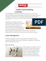 16 Team Building