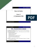 Base de dados - A linguagem SQL