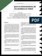Propuesta para el entrenamiento de la potencia aeróbica en fútbol