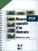 DT3086 - Reserve de Capacité d'Un Itinéraire