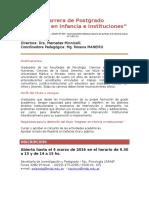 Maestria Infancia Instituciones Info