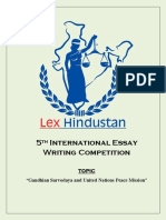 5th International Essay Writing