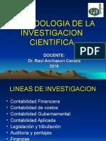 Asignatura Del Curso Metodologia de La Investigación-2016. Rac.